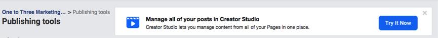 Creator Studio Facebook Business Page