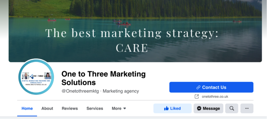 One To Three Marketing Facebook Business Page Cover