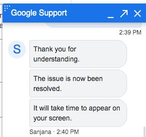 Google My Business logo missing, contact Google Support